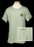 Spyderco T-Shirt Knife Anatomy Size Small Heather Green Cotton Blend TSKAS