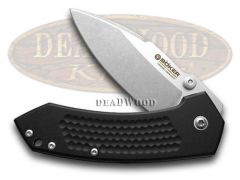 Boker Tree Brand Anso Solo Liner Lock Knife Black Aluminum Stainless 110634