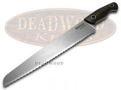 Boker Tree Brand Saga Kitchen Bread Knife Grenadill Full Tang Stonewash 130381