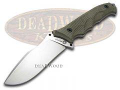 Boker Arbolito Buffalo Soul 42 Fixed Blade Knife Rough Green Micarta 02BA316M