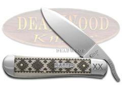 Case xx Russlock Knife Tribal Native American Pattern Natural Bone 1/500 Pocket
