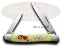 Case xx Pen Knife Yellow Delrin Logo Engraved Handle 1/500 CV Pocket Knives 109C