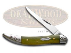 Case xx Toothpick Knife Olive Green Bone 1/5000 125th Anniv Stainless 18800