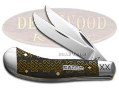 Case xx Saddlehorn Knife Celtic Knot Antique Bone 1/500 Stainless Knives