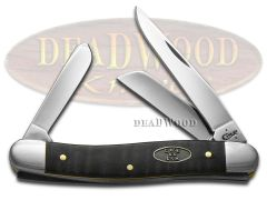 Case xx Med Stockman Knife Black Curly Maple Wood Stainless Pocket Knives 23352