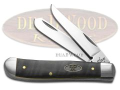 Case xx Mini Trapper Knife Black Curly Maple Wood Stainless Pocket Knives 23356