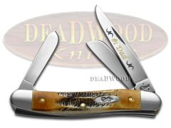 Case xx No. 1 Dad Med Stockman Knife 6.5 Bone Stag 1/500 Stainless Pocket Knives