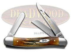 Case xx No. 1 Son-In-Law Medium Stockman Knife 6.5 Bone Stag 1/500 Stainless