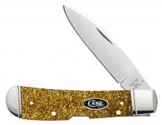 Case xx Tribal Lock Knife Gold Stardust Kirinite Stainless Black SparXX 50984