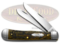 Case xx Trapper Knife Father and Daughter Antique Bone 1/500 Stainless Knives
