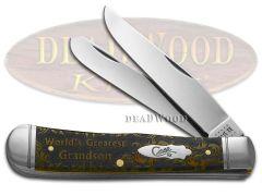 Case xx Trapper Knife World's Greatest Grandson Antique Bone 1/500 Pocket Knives