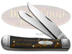 Case xx Trapper Knife World's Greatest Husband Antique Bone 1/500 Pocket Knives