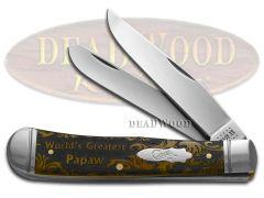 Case xx Trapper Knife World's Greatest Papaw Antique Bone 1/500 Pocket Knives