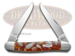 Case xx Muskrat Knife Chipped Sun Dance & White Pearl Corelon Stainless Pocket