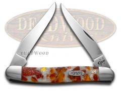 Case xx Muskrat Knife Chipped White Pearl & Sun Dance Corelon Stainless Pocket