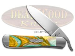 Case xx Russlock Knife Abalone Corelon Stainless 6084AB Pocket Knives