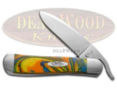 Case xx Russlock Knife Feather McCall Corelon Stainless 6084FMC Pocket Knives