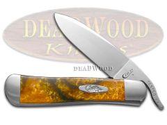 Case xx Russlock Knife Pot of Gold Corelon Handle Stainless Pocket Knives 6084PG