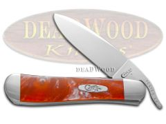 Case xx Russlock Knife Red Luster Corelon Handle Stainless Pocket Knives 6084RL