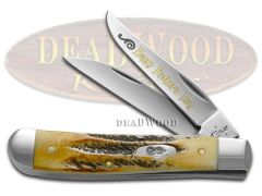 Case xx Happy Father's Day Mini Trapper Knife 6.5 Bone Stag 1/500 Stainless