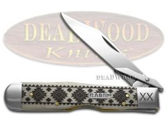 Case xx Cheetah Knife Tribal Native American Pattern Natural Bone 1/500