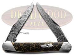 Case xx Muskrat Knife Raindrop Damascus Black Matrix Stone 1/200 S9200DAM-BM