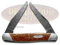 Case xx Muskrat Knife Raindrop Damascus Red Matrix Stone 1/200 S9200DAM-RM
