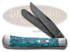 Case xx Painted Pony Damascus Turquoise Web 1/200 Trapper 9254DAM-TWM Knife