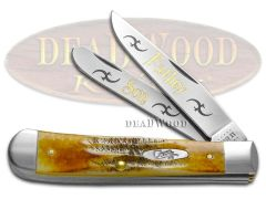 Case xx Trapper Knife Father and Son 6.5 Bone Stag Stainless Pocket Knives