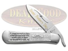 Case xx Father's Day Russlock Knife White Pearl Corelon Stainless Pocket Knives