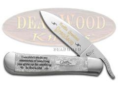 Case xx World's Greatest Grandson Russlock Knife White Pearl Corelon Stainless