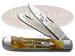 Case xx Trapper Knife Love You Daddy 6.5 Bone Stag 1/500 Stainless Pocket