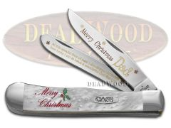 Case xx Merry Christmas Dad Trapper Knife White Pearl Corelon 1/500 Stainless