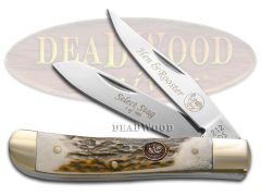 Hen & Rooster Mini Trapper Knife Genuine Deer Stag Stainless Pocket 212-DS