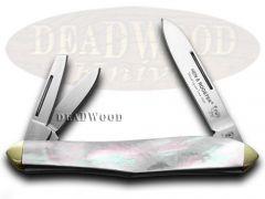 Hen & Rooster Whittler Knife Mother of Pearl Carbon Pocket Knives 233-MOP