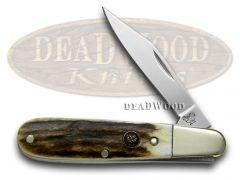 Hen & Rooster Barlow Knife Genuine Deer Stag Stainless Pocket Knives 241-DS