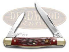 Hen & Rooster Pen Knife Red Pick Bone Handle Stainless Pocket Knives 302-RPB