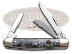 Hen & Rooster Small Stockman Knife Imitation Abalone Stainless Pocket 303-IAB