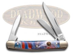 Hen & Rooster Small Stockman Knife Star Spangled Banner Stainless 303-STAR
