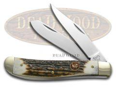 Hen & Rooster Medium Trapper Knife Deer Stag Stainless Pocket Knives 412-DS