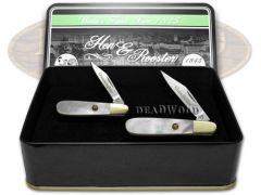 Hen & Rooster Grandfather Granddaughter Barlow Knife Set Mother Pearl 1/500