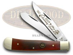 Hen & Rooster Trapper Knife Brown Bone 1/250 160th Anniversary 312BRB-160