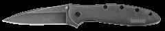 Kershaw Leek Liner Lock Knife Blackwash Stainless Steel Sandvik 14C28N 1660BLKW