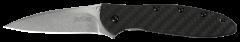 Kershaw Leek Liner Lock Knife Carbon Fiber CPM-154 Stainless 1660CF Pocket Kniv