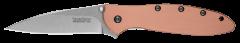 Kershaw Leek Liner Lock Knife Copper Handle CPM-154 Stainless 1660CU Pocket Clip