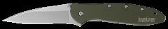 Kershaw Leek Liner Lock Knife Olive Green Anodized Aluminum 14C28N Steel 1660OL