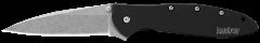 Kershaw Leek Liner Lock Knife Black 6061-T6 Aluminum Sandvik Stainless 1660SWBLK