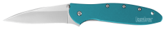 Kershaw Leek Liner Lock Knife Teal Anodized Aluminum 14C28N Stainless 1660TEAL