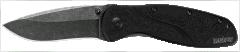 Kershaw Blur Liner Lock Knife Black Aluminum Blackwash Sandvik Stainless 1670BW
