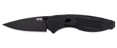 SOG Aegis Folder Knife Black Glass-Reinforced Nylon AUS-8 Stainless AE02-CP